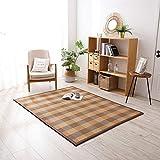 fgdjtyyj Esterilla de suelo de paja japonesa, para verano, plegable, portátil, ratán, para dormir, colchón frío para el hogar, 180 x 180 cm