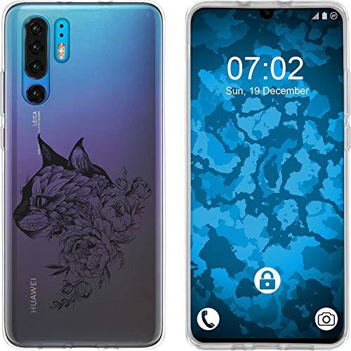 Preisvergleich Produktbild PhoneNatic Case kompatibel mit Huawei P30 Pro Silikon-Hülle Floral Katze M2-1