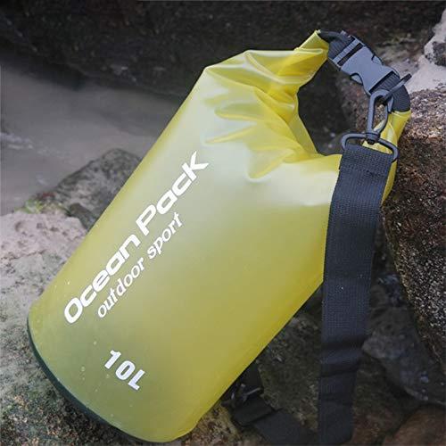IEAST Impermeable al Aire Libre del Bolso seco Dry Sack PVC Barril Bolsa, Capacidad: 2 litros para Viajar El Camping Vela Rafting Kayak (Color : Amarillo)