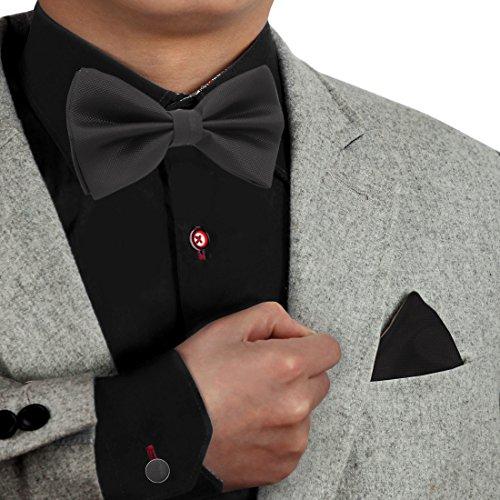 Dan Smith - Juego de pajarita para hombre, diseño de pajarita multicolor con caja de regalo,  Negro-dbc3007, Talla única