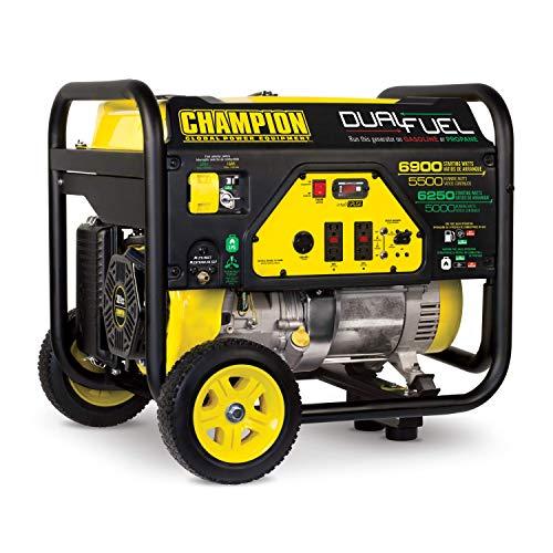 6900/5500-Watt Dual Fuel Portable Generator with Wheel Kit - Champion Power Equipment 100231