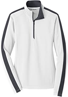 Dri-Equip Ladies Sport-Wick Textured Colorblock 1/4-Zip Pullover