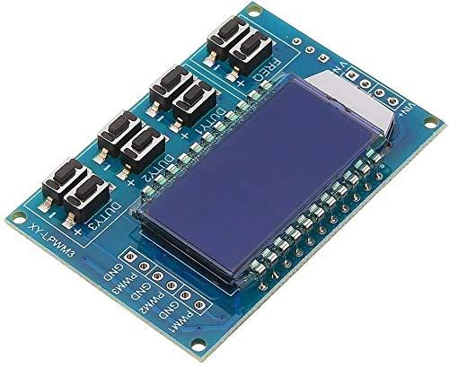 MUKUAI31 3pcs 3 Channel PWM Pulse Frequency Duty Ratio Adjustable Controller Module Square Wave Rectangular Signal Generator DIY