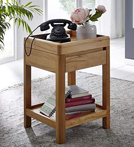 Main Möbel Telefontisch 40x60cm 'Bayreuth' Kernbuche massiv