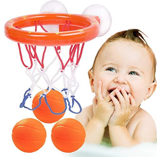 Camelize Wasserspielzeug badewannenspielzeug,Mini basketballkorb mit 3 Basketbälle Basketball Brett und starken Saugnäpfen für Jungen Und Mädchen Bad Spielzeug Geschenk