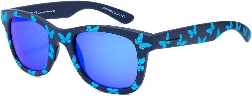 Italia Independent 0090T-FLW-017 Lunettes de Soleil Femme Multicolore (Negro/Azul)