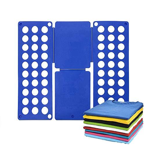 Doblar La Ropa, Tabla de Ropa Plegable, Ajustable Ropa de Orígen Conveniente Organizador de La Carpeta de Plástico Camisa Rápida del Estilo del Tablero Plegable (Azul)