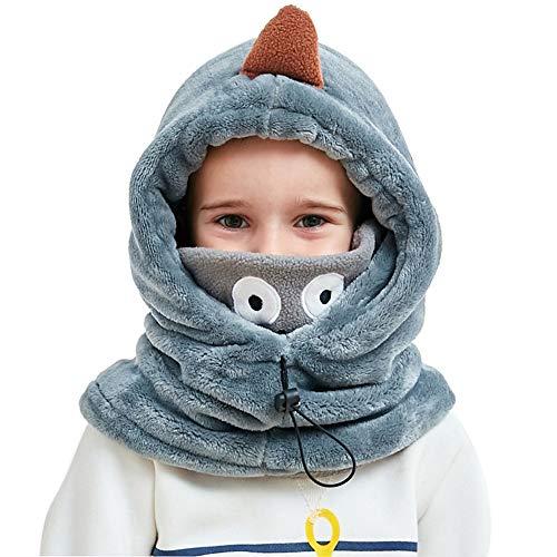 Lazzon Sombrero de Pasamontaña Niño Invierno con Máscara Térmica con Cuello Calentador para Esquí Escalada al Aire Libre Ciclismo