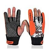 Profesional antideslizantes guantes de bolos cómodo accesorios de bolos semi-finger instrumentos deportes guantes manoplas para bolos, Anaranjado