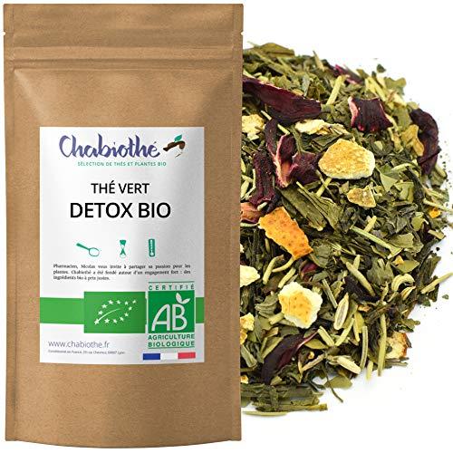 Chabiothé - Thé vert DETOX BIO 200g - mélangé et...