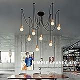 Araña, araña, creativa, moderna, minimalista, lámparas de madera nórdicas, comedor, sala, dormitorio, oficina, tienda de ropa