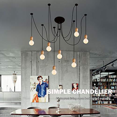 Lampadario, ragno, creativo, moderno, minimalista, lampade in legno nordico, sala da pranzo, soggiorno, camera da letto, ufficio, negozio di abbigliamento