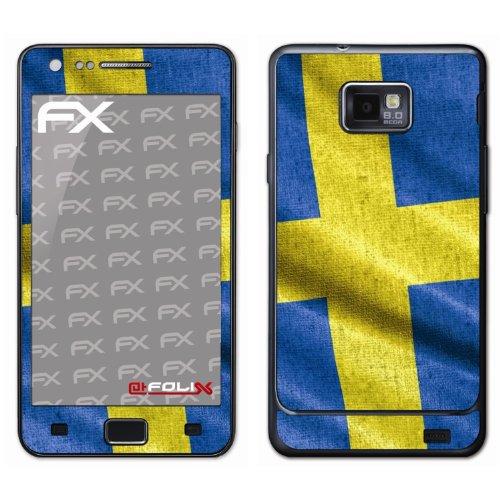 Displayschutz@FoliX atFoliX - Pellicola Protettiva Design Calcio 2012' con Bandiera della Svezia, per Samsung Galaxy S2 i9100