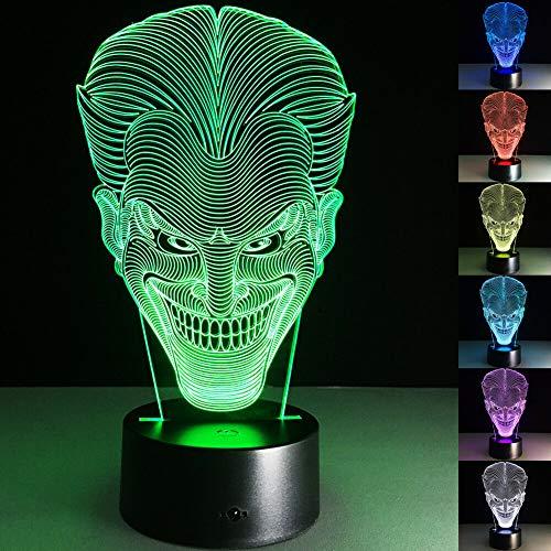 Batman Joker 3D Led Night Light 7 Colorful Acrylic Joker USB Led Table Lamp Creative Action Figure Lighting Toys Gifts for Boys