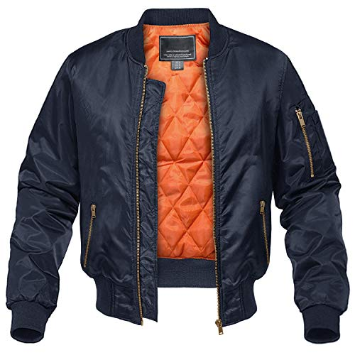 21 Men Navy Bomber Jacket