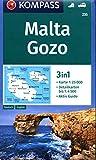 Carta escursionistica n. 235. Malta, Gozo 1:25.000. Ediz. tedesca e inglese: 3in1 Wanderkarte 1:25000 mit Aktiv Guide und Detailkarten. Autokarte.