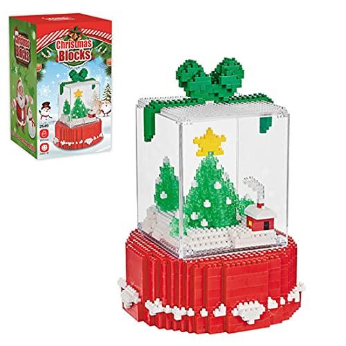 Morton3654Mam Caja de regalo de Navidad, con microbloques de construcción con efecto de luz y expositor, 810 piezas, modelo de bloques de construcción, juguete educativo