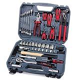 Hi-Spec Kit de Herramientas para el hogar y el garaje de 56 piezas de Alta Especificación, Toma de Cromo Vanadio CR-V con Tomas Métricas de 1/4 'y 1/2'