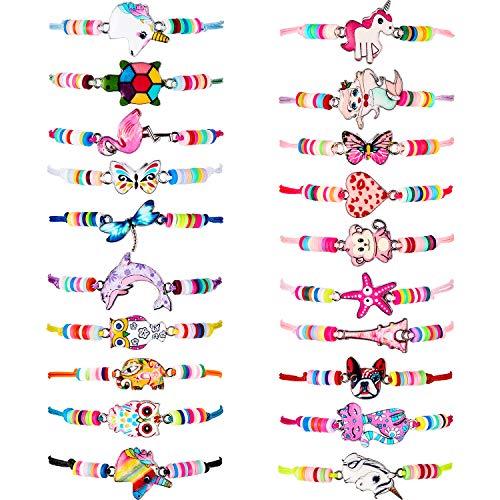 20 Pieces Unicorn Bracelets Friendship Bracelets for Girls Women Bracelets Jewelry Animal Pendant Unicorn Owl Cute Bracelets Adjustable for Prize Pretend Play Party Favors (Dog Style)
