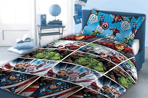 copripiumino singolo hulk Marvel