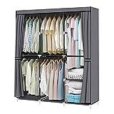 YOUUD 50 Inch Wardrobe Portable Cloth Closet Stroage Organizer...