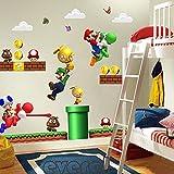 Room Décor For Kids - Pegatinas de Pared, diseño de Super Mario