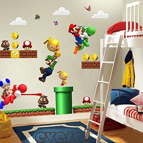 Super Mario Wandaufkleber