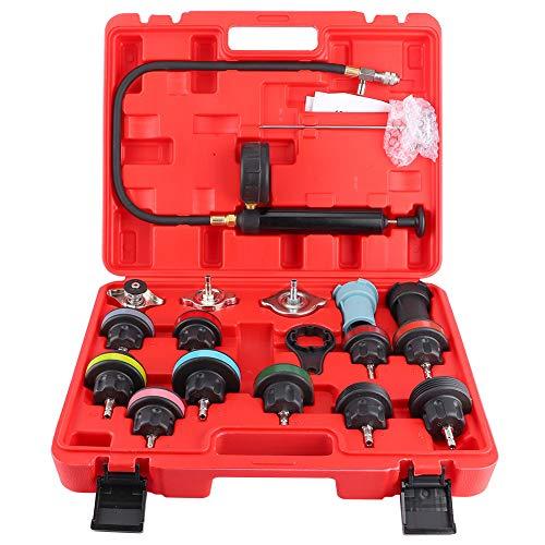 Wassertank Lecksucher, Fydun Universal Auto kühlsystem Tester Kit 18st Kühlsystemtester Kühler Druck Prüfung Abdrückgerät Kühl System Tester Prüfgerät
