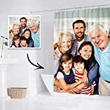 UnderTheRose Custom Picture Shower Curtain Personalized Waterproof Fabric Bath Curtain Customized Photo Shower Curtain for Bathroom Decorations