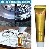 Lespar 1 Pieza Ultimate Metal Polish Cream, Gel de eliminación de óxido Absolutamente Seguro y no dañino para Todos los Productos metálicos para Cobre, latón, Plata esterlina, Aluminio, Oro.