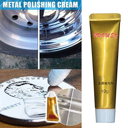 Ultimate Metal Polish Cream - Entferner Edelstahl Keramikuhr Metall Rostentferner, Leistungsstarker Reiniger Rostschutzmittel Derusting, Aluminium 10g