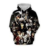 PLstar Cosmos hoodies 3D print streetwear hoodie hip hop style unisex tracksuit tops (MJ-H7,S/M)