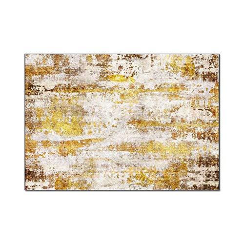 HJFGIRL - Alfombra moderna de estilo nórdico, ligera, abstracta, dorada, antideslizante, para interiores, para salón, dormitorio, suelo de sofá (160 x 230 cm), 100x150cm(39x59inch)