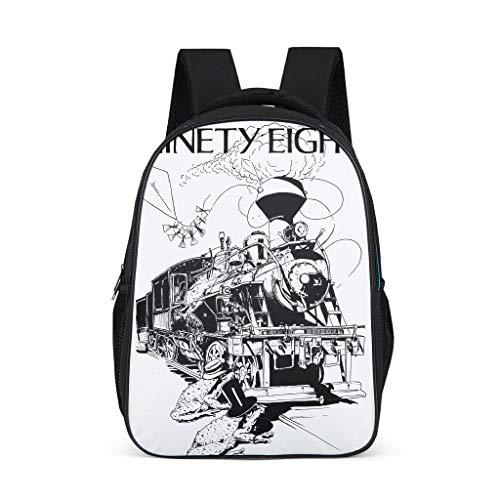 Xuanwuyi Schulrucksack mit großem Fassungsvermögen, Dunkles Kunstdesign, wasserdicht, für Mädchen, Schule, Kinder, Alltag One Size grau