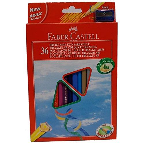 Faber-Castell 040197.93 Federmäppchen 36 dreieckige Buntstifte Eco