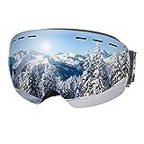 Dracarys Masque de Ski Anti-buée Protection UV sans Cadre Objectif Interchangeable sur Les Lunettes de Snowboard pour Hommes...