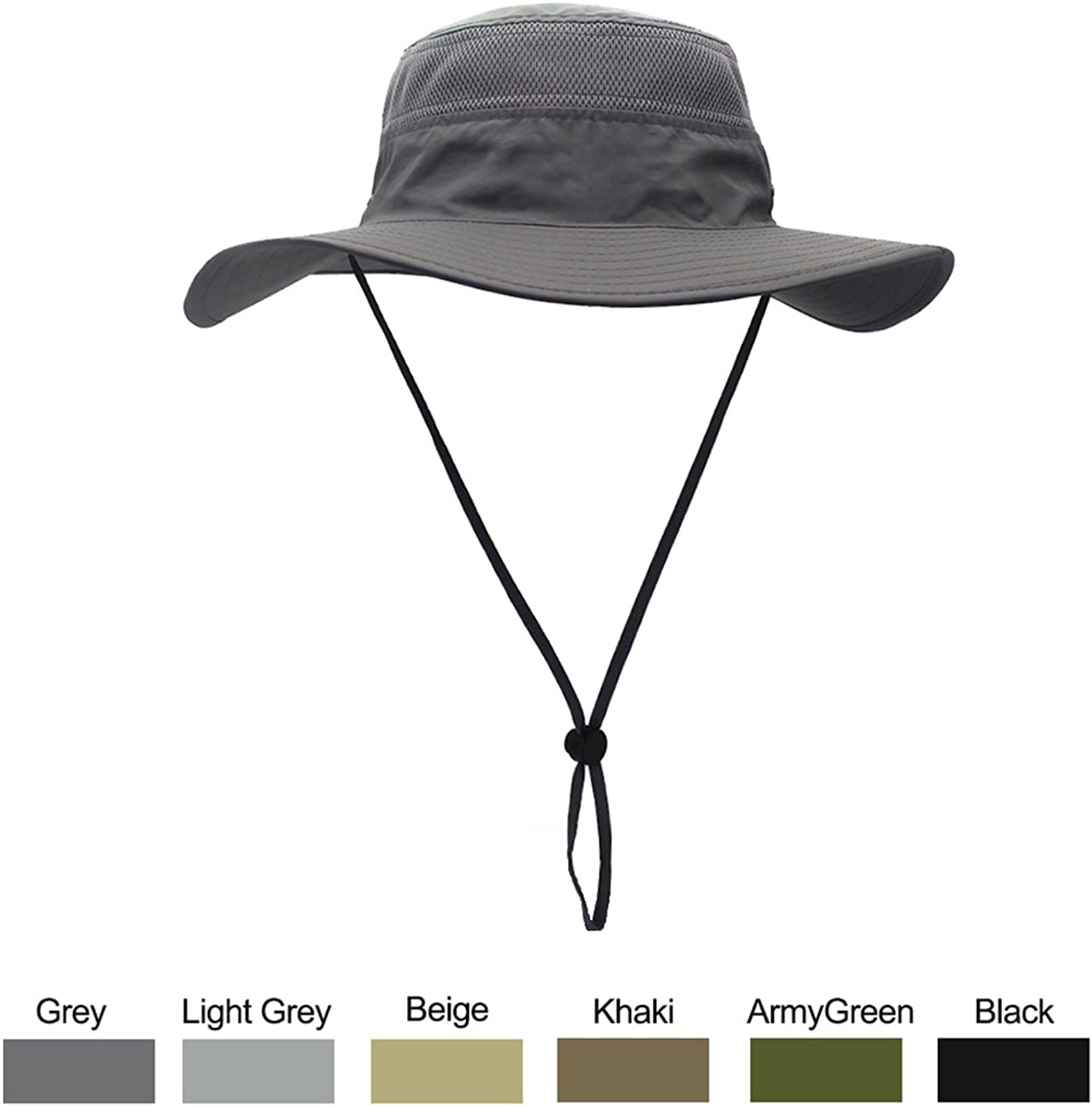 0b6e08b3 Outdoor Sun Hat,with 50+ 50+ 50+ UPF,Lightweight and Breathable Fabric,Sun  Predection Hats .Perfect Adjustable Drawstring Design for Men & Women.