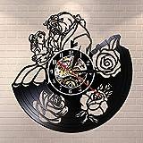 Reloj de Pared con Disco de Vinilo, Regalo Creativo para niños y niñas,...