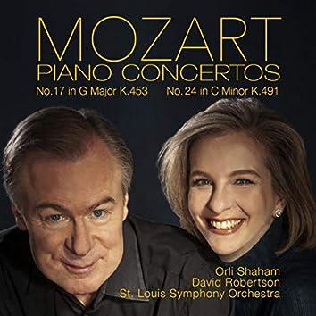 Mozart: Piano Concertos No. 17, K. 453 & No. 24, K. 491