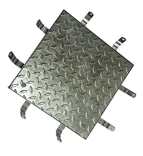 Befahrbare Schachtabdeckung verzinkt Klasse B 125, 40 x 40 cm, lichte Weite 30 x 30 cm
