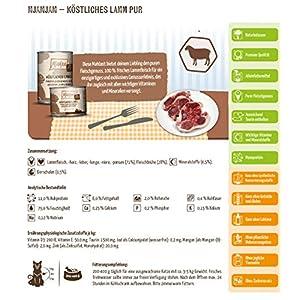 MjAMjAM – Mangime umido per gatti – puro piacere della carne – delizioso agnello puro, confezione da 1 (1 x 200 g), senza cereali con molto carne