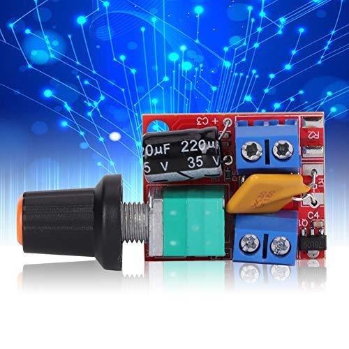 Controlador de velocidad Interruptor de control del regulador de velocidad de voltaje amplio 2pcs DC 5V-35V Tamaño compacto, bajo consumo de energía, respuesta rápida