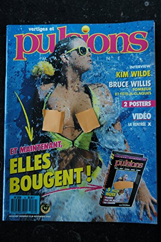 PULSIONS 10 KIM WILDE SPECIAL PHOTO JEAN ROUGERON EROTIC + POSTER SAMANTHA FOX TOPLESS