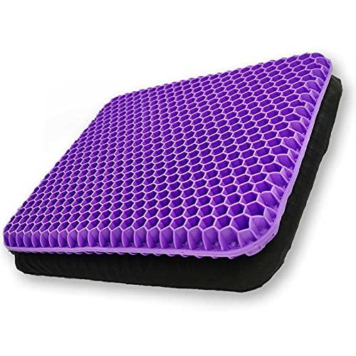 Cuscini sedie,cuscino in gel —Cuscino Elastico per Il Sostegno del Sedile,Fresco e Traspirante, per alleviare l'affaticamento dell'anca (viola)