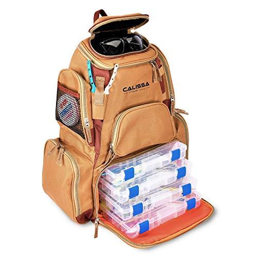 The X-Large 'Blackstar' Fishing Backpack, Tackle Box Storage Bag - Non-Corrosive Fishing Tackle Bag with (4X) 3650 Boxes -Fisherman Gifts for Men, Tackle Backpacks Tackle Box (No Tackle Trays)
