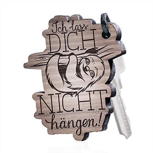 schenkYOU Schlüsselanhänger aus Holz Faultier