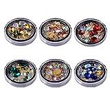 Nail Art piedras brillantes metal Nail Art Pendientes Remaches Nail Crystal Gems, multicolor Nail Art Strass Nail Diamonds Kit para Nail Art Supplies accesorios