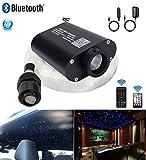 AZIMOM LED Bluetooth 16W RGBW Fiber Optic Light Star Ceiling Kits Sensor Music Mode Remote/APP Control Car Use Home Headliner Lighting Decoration 150pcs 0.03in 6.5ft