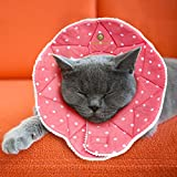 SunGrow Soft Donut Collar, Fits 9-10 inches, No More Cone of Shame, for Speedy Neuter or Surgery Recovery, Comfortable Neck Pillow, Pink Color, M Size, 1-pc