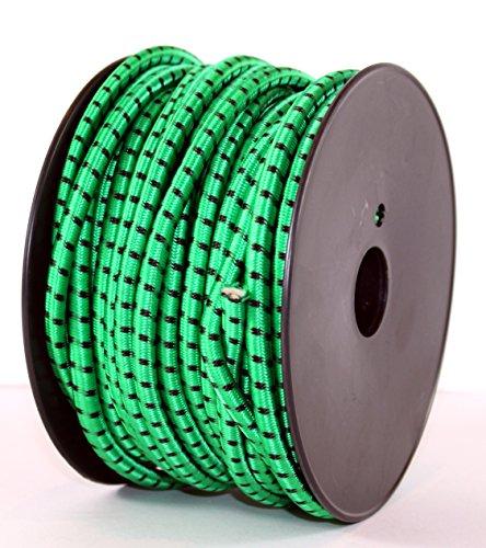 K&B Vertrieb Tendeur élastique 25 m Vert Ø 6 mm – K & B Distribution de bâche de Tente Bâche Tendeur planifier Support 237